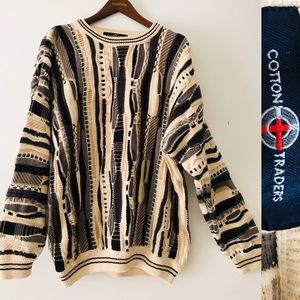 Vintage 80s COTTON TRADERS Pullover Sweate…